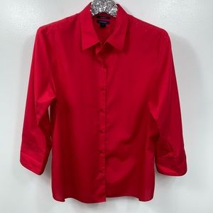 Westbound Wrinkle Free Red Button Down Top Size 18